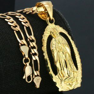 18k PT MARY Necklace Pendant TAKE ALL OFFERS